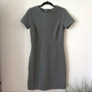 Banana Republic grey striped sheath dress - Sz 6